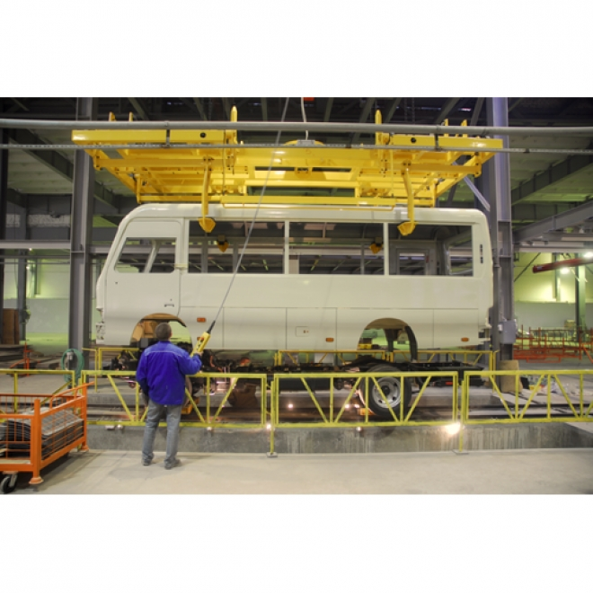 HMI Total Solution Enables Bus Manufacturers to Realize a Smart Factory